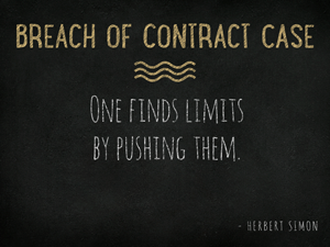 Breach Of Contract Case